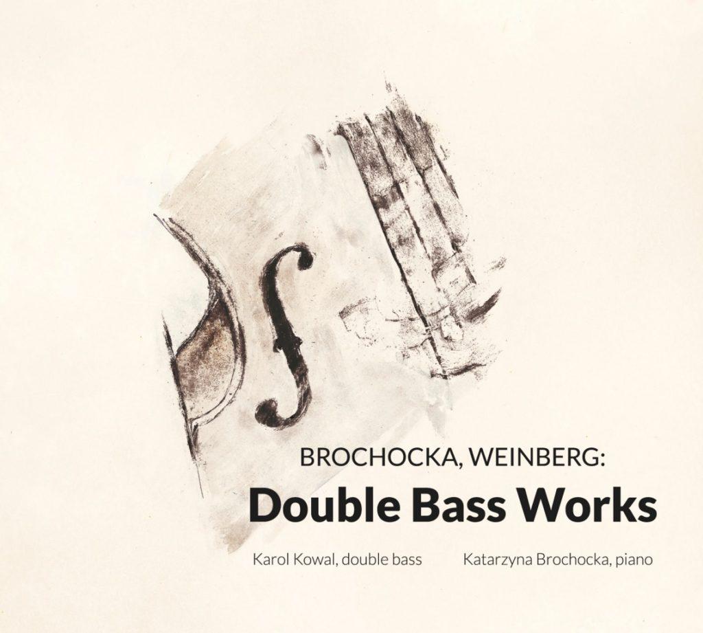 okładka płyty Brochocka, Weinberg: Double Bass Works