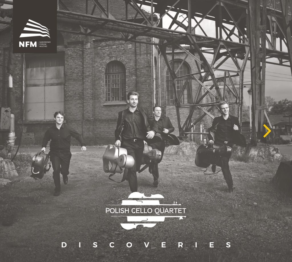 okładka płyty Polish Cello Quartet - Discoveries