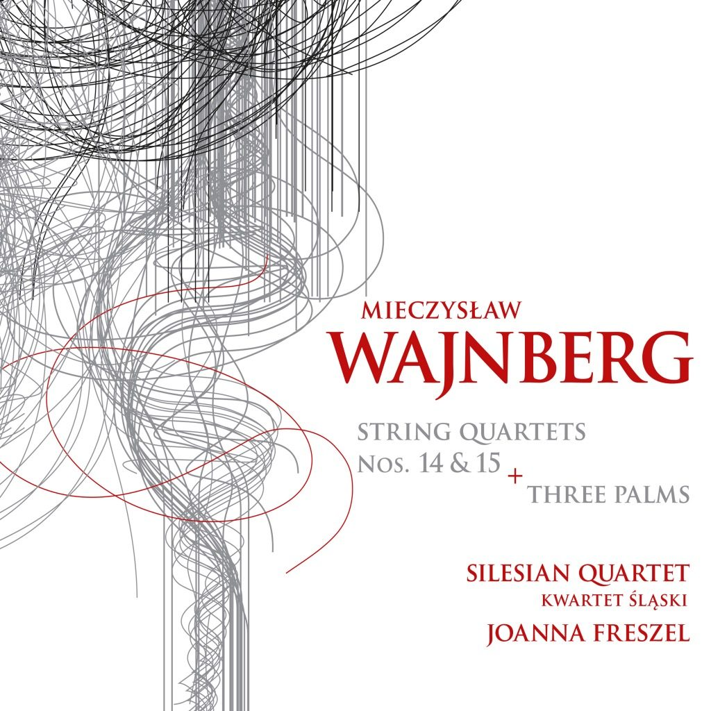 Okładka płyty Mieczysław Wajnberg (Weinberg) – String Quartets Nos 14-15, Three Palms