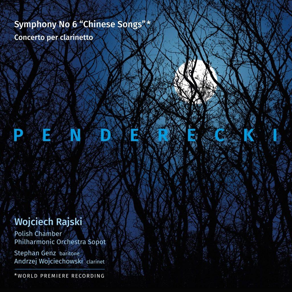 okładka płyty Krzysztof Penderecki – Symphony No. 6, Concerto per clarinetto