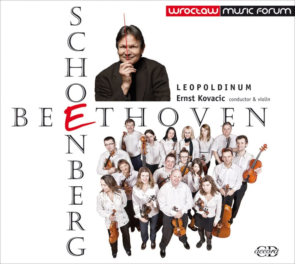 okładka płyty Beethoven, Schoenberg - Leopoldinum, Ernst Kovacic