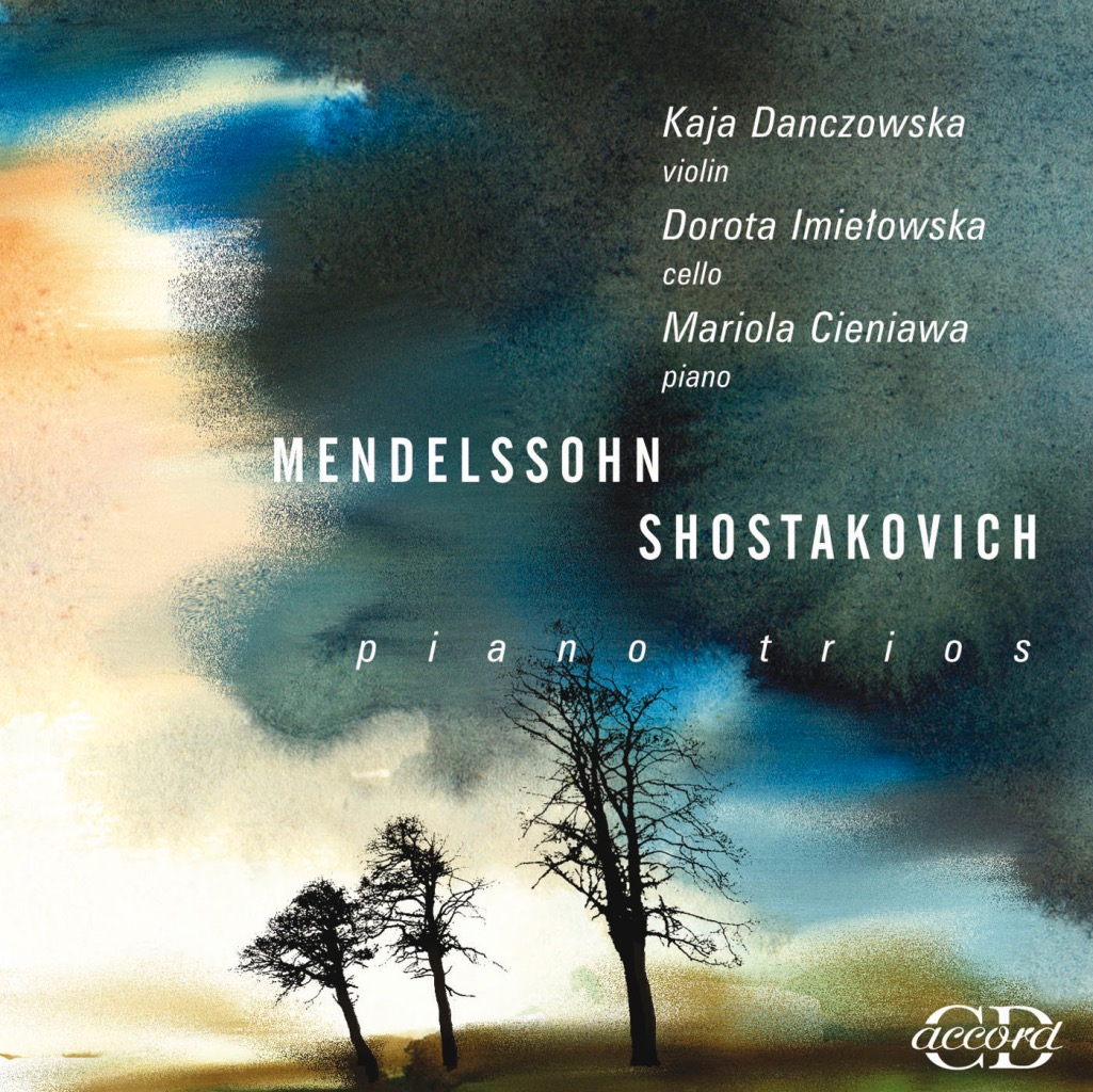 """okładka płyty Mendelssohn, Szostakowicz """"Piano Trios"""""""